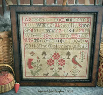Catharine Dickenson 1840 - Cross Stitch Pattern