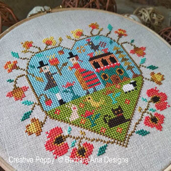 Spring Heart - Cross Stitch Pattern