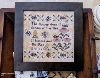 Bee Comes, The - Cross Stitch Pattern