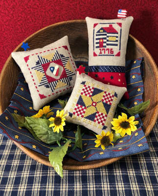 Patriotic Pin Keeps - Cross Stitch Pattern