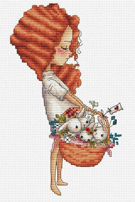 Panier D'Amour - Cross Stitch Pattern
