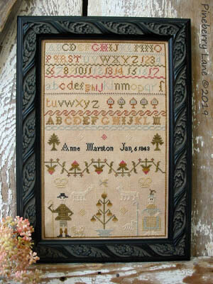 Anne Marston 1843 - Cross Stitch Pattern