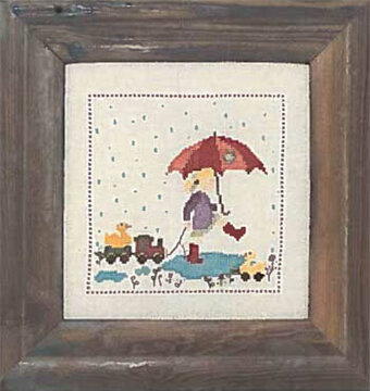 In the Rain - Cross Stitch Pattern