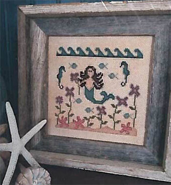 In a Mermaid's Garden - Cross Stitch Pattern