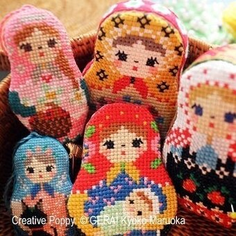 Matryoshka Needlework Set II - Cross Stitch Pattern