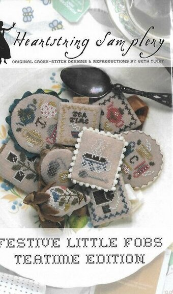 Festive Little Fobs 14 - Teatime - Cross Stitch Pattern