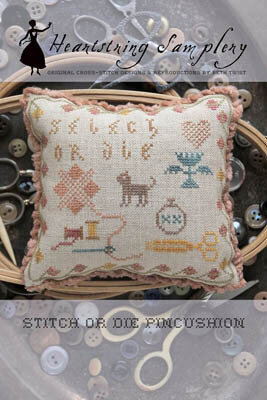 Stitch or Die Pincushion - Cross Stitch Pattern