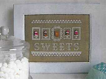 Sweets (with buttons) - Cross Stitch Pattern