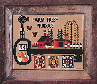 Farm Fresh Produce - Cross Stitch Pattern