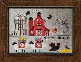 Heroic Ewes Harvesting - Cross Stitch Pattern