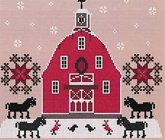 Poinsettia Farm - Cross Stitch Pattern