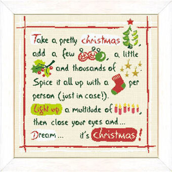 Christmas Recipe Plus Stars (USN013) - Cross Stitch Pattern