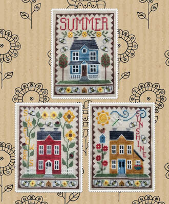 Summer House Trio - Cross Stitch Pattern