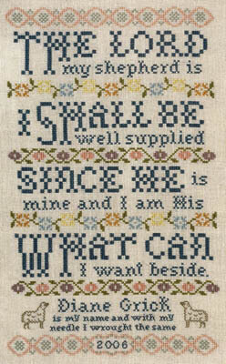 Lord is My Shepherd - Cross Stitch Pattern
