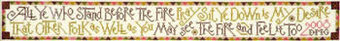 Fireside Sampler - Cross Stitch Pattern