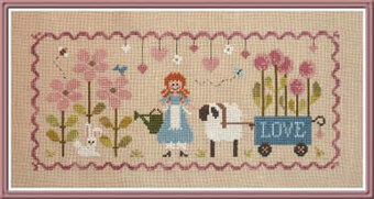 Lili Au Jardin - Cross Stitch Pattern