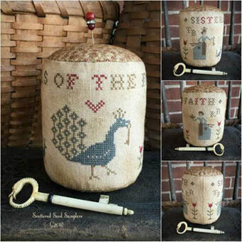 Sisters of the Faith Pinkeep Drum - Cross Stitch Pattern