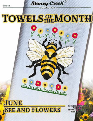 Towels of the Month - June Bee and Flowers
