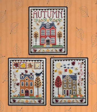 Autumn House Trio - Cross Stitch Pattern