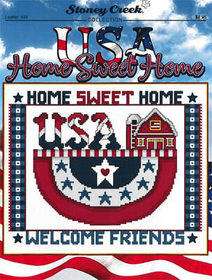 USA Home Sweet Home - Cross Stitch Pattern