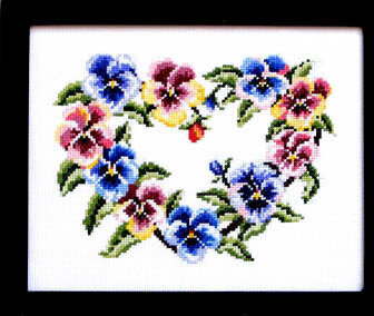 Pretty Pansies - Cross Stitch Pattern
