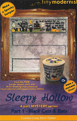 Sleepy Hollow Part 1 Black Cats & Bats - Cross Stitch Patter