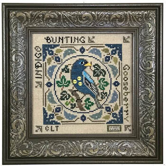 Birds & Berries - Indigo Bunting - Cross Stitch Pattern