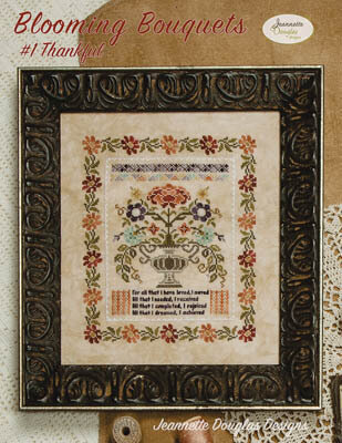 Blooming Bouquets #1 - Thankful - Cross Stitch Pattern