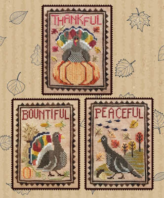 Turkey Trio - Cross Stitch Pattern