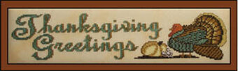 Thanksgiving Greeting - Cross Stitch Pattern