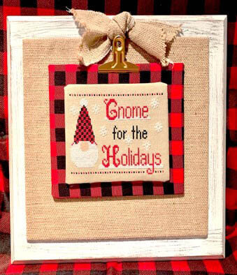 Gnome for the Holidays - Cross Stitch Pattern