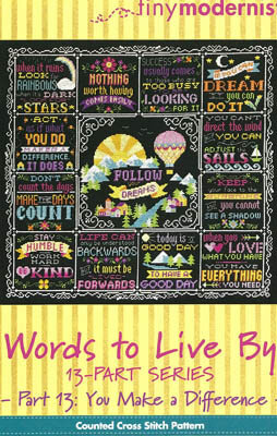 Words to Live By Part 13 - Cross Stitch Pattern