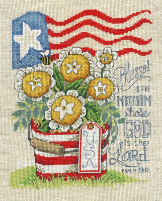 Blessed Nation - Cross Stitch Pattern