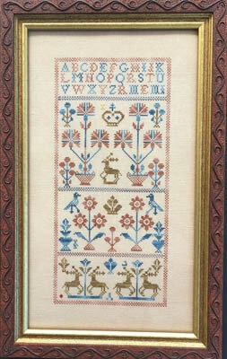 Five Deer Sampler - Cross Stitch Pattern