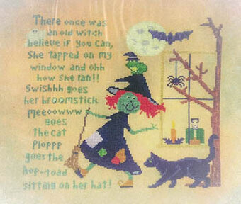 Run Witchy Run - Cross Stitch Pattern