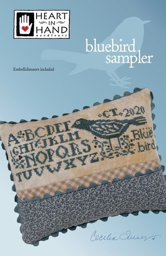 Bluebird Sampler (w/embellishments) - Cross Stitch Pattern