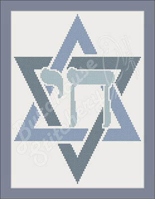 Simply Jewish Chai - Cross Stitch Pattern