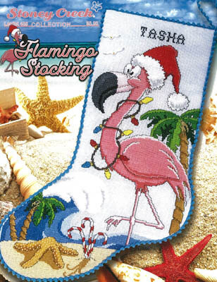 Flamingo Stocking - Cross Stitch Pattern