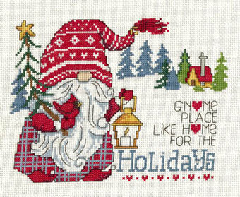 Gnome Place Like Home - Cross Stitch Pattern