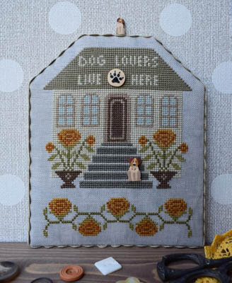 Dog Lovers (with Buttons) - Cross Stitch Pattern
