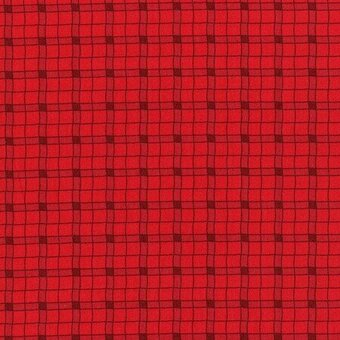 Red Plaid 100% Cotton Fabric Fat Quarter