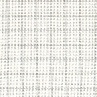 28 Count Easy Count Grid White/Grey Lugana Fabric 13x18