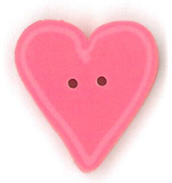 Small Happy Pink Heart - Button