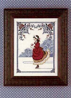 Lavender And Lace Winter Rose Cross Stitch Pattern