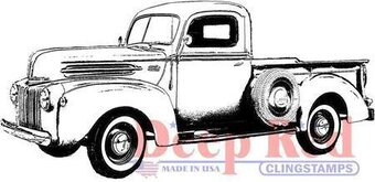 Classic Pickup Truck - Cling Rubber Stamp