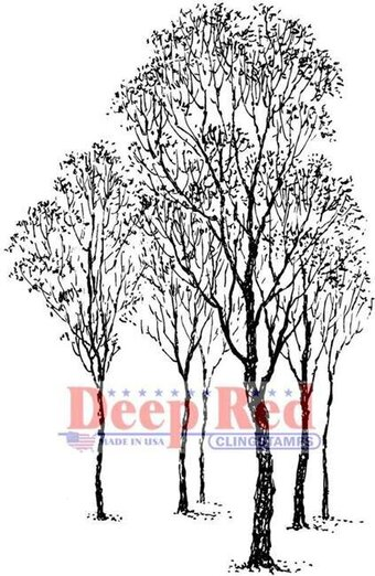 Winter Trees - Cling Rubber Stamp
