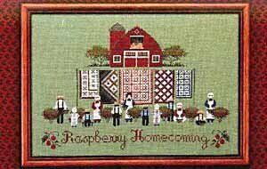 Raspberry Homecoming - Cross Stitch Pattern