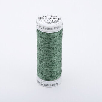 French Green - Sulky 12wt Cotton Petites Thread 50 yds