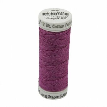 Orchid Kiss - Sulky 12wt Cotton Petites Thread 50 yds