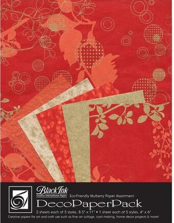 Chinaberry Red Deco Paper Pack By Black Ink Papers